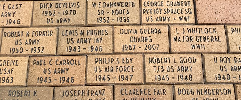 Mapping Bricks at the Veterans Memorial
