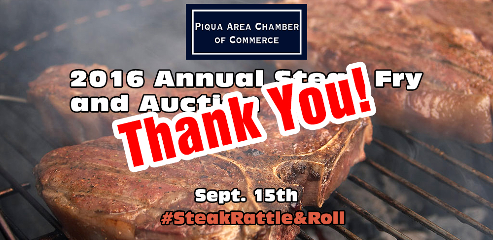 Thanks for a great 2016 Steak Fry and Auction!