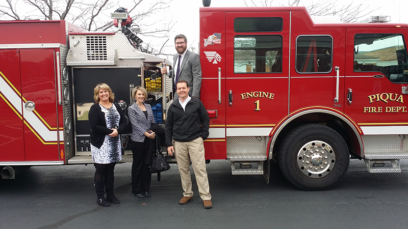 The PACC Leadership Development Group spent the morning with the Piqua Police and Fire Departments!