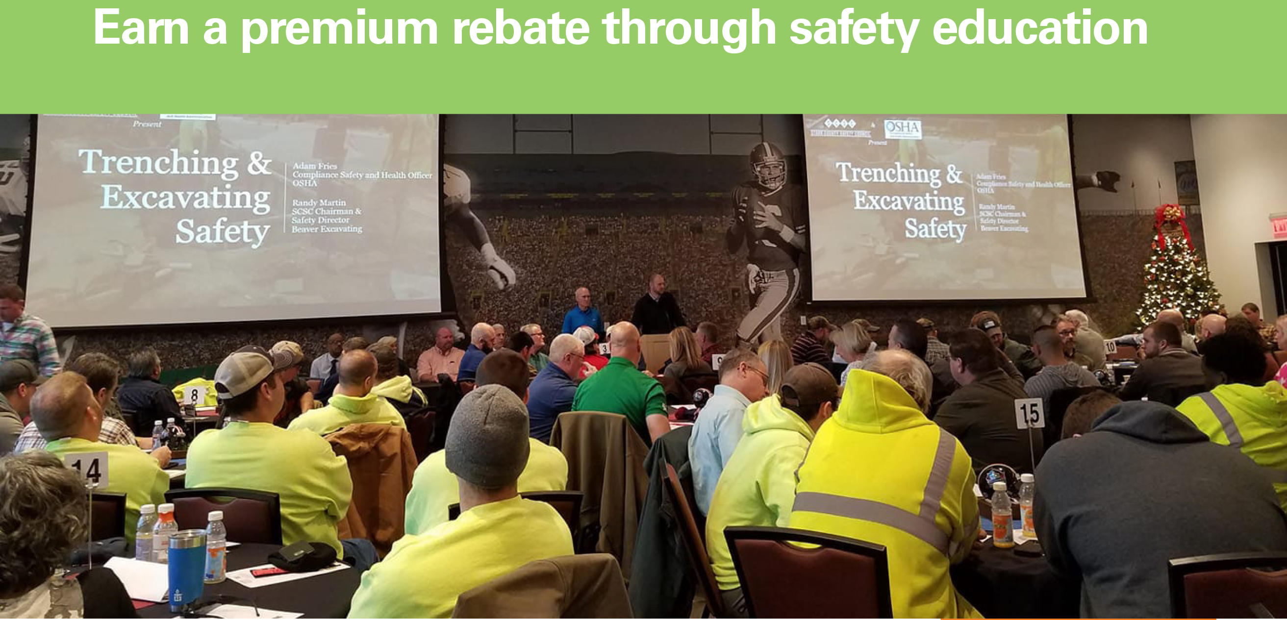 Earn a premium rebate through safety education